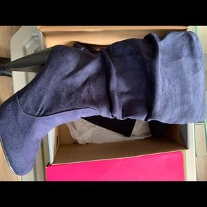Navy blue suede Charlotte Russe boots